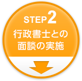Step2 行政書士との面談の実施