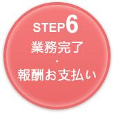 Step6 手続き終了・費用お支払い